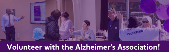 Volunteer with the Alzheimer's Association