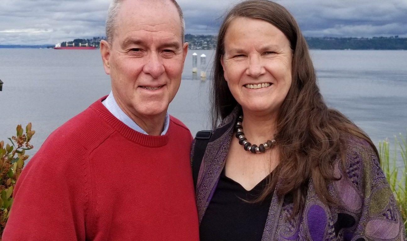 Chris and Sylvia smiling together