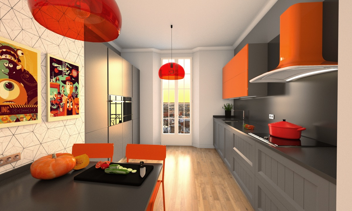 cuisine mod le volta am agencements. Black Bedroom Furniture Sets. Home Design Ideas