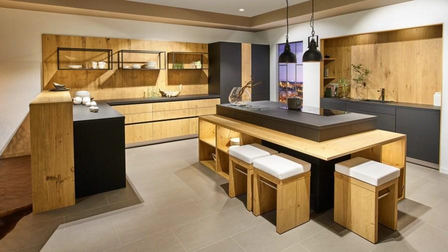 Cuisine Appartement chêne Fenix