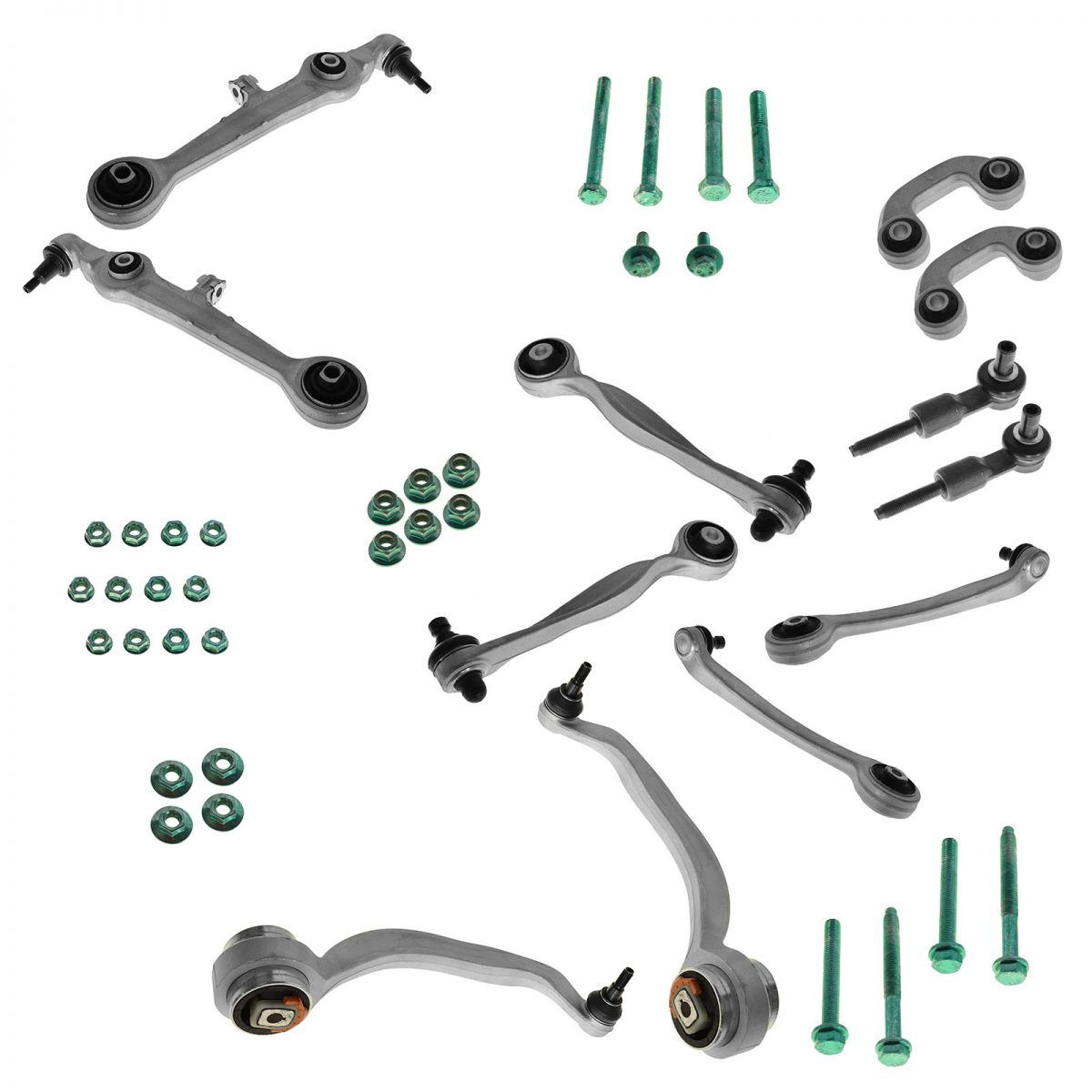 Control Arms Ball Joints Tie Rods 13 Piece Suspension Kit