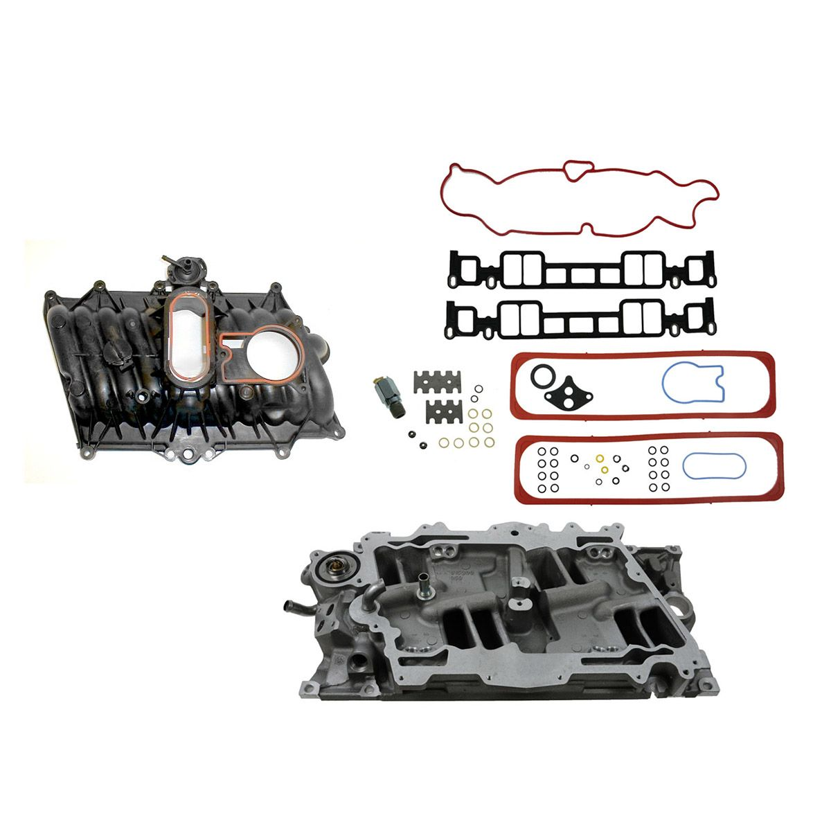 Upper Lower Intake Manifold Set Kit For 96 02 Chevy Gmc