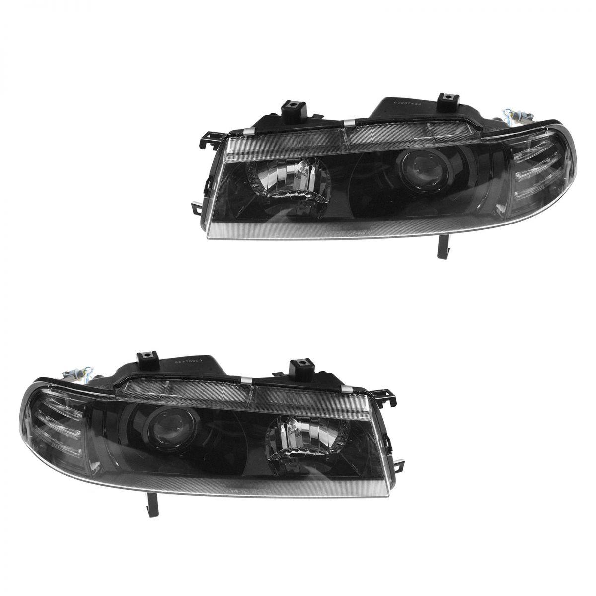 1992 honda prelude headlight wiring diagram 2002 jetta cooling fan black bezel performance projector style pair for