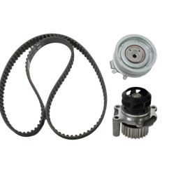timing belt set kit w water pump for volkswagen vw golf jetta beetle 2 0l [ 1200 x 1200 Pixel ]