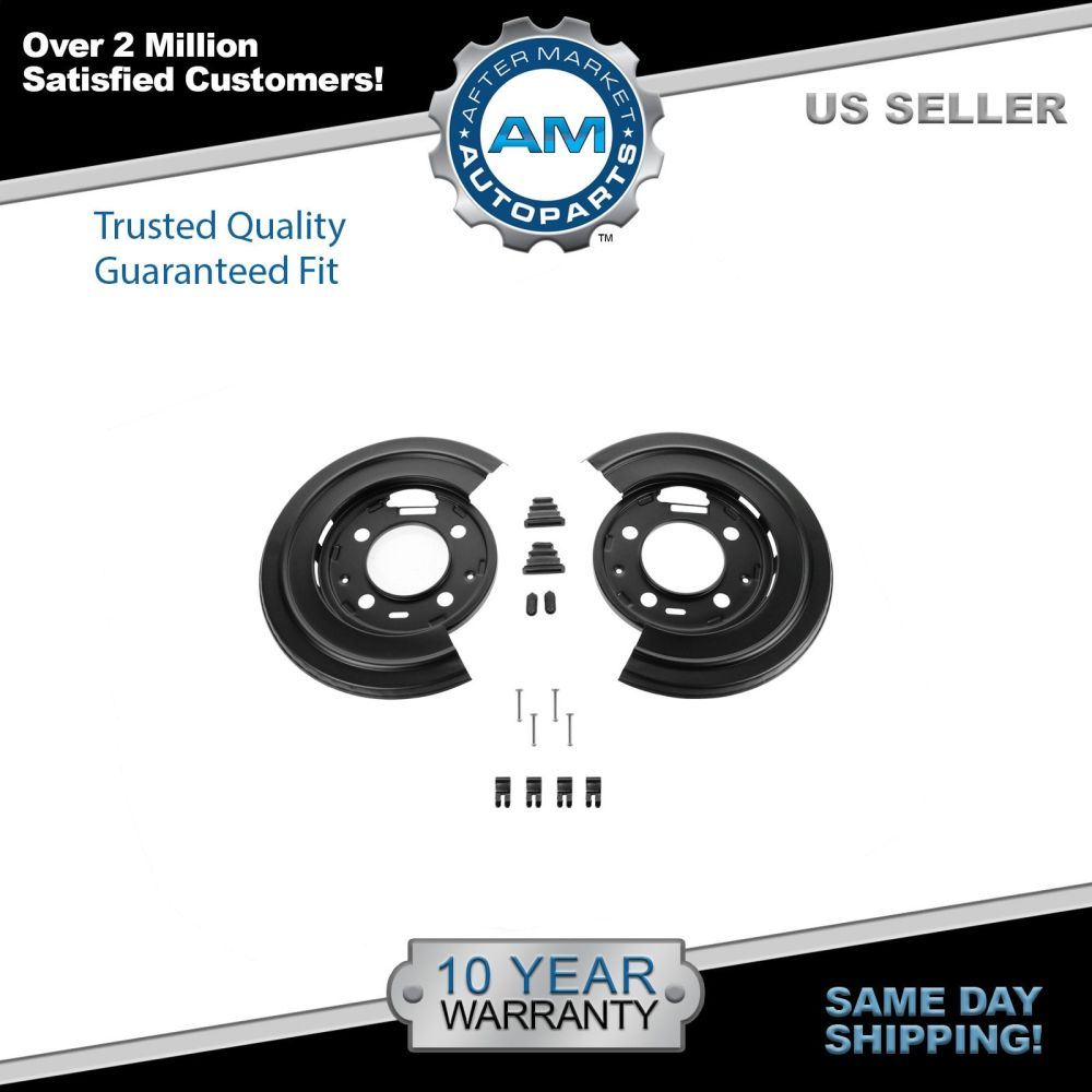 medium resolution of dorman rear brake dust shield backing plates pair for ford f250 f350 excursion
