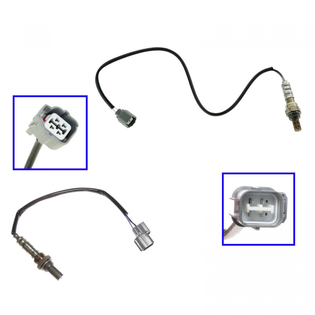 Oxygen O2 Sensors Upstream Amp Downstream Pair Set For 01 05