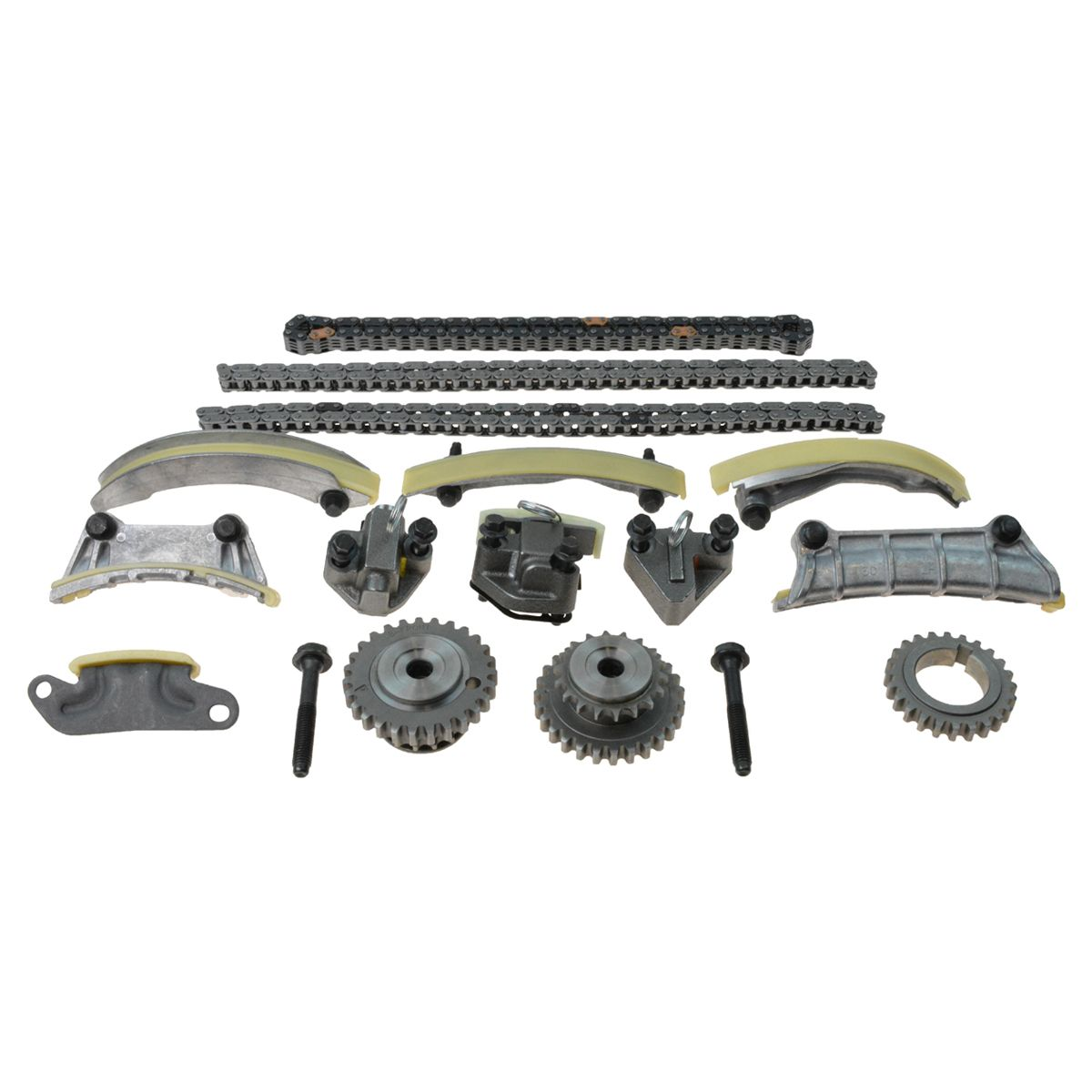 Engine Timing Chain Tensioner Idler Guide Rail Kit Set For