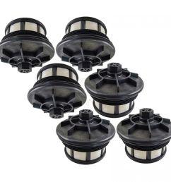 fuel filter set of 6 for ford f250 f350 super duty van 7 3l v8 turbo [ 1200 x 1200 Pixel ]