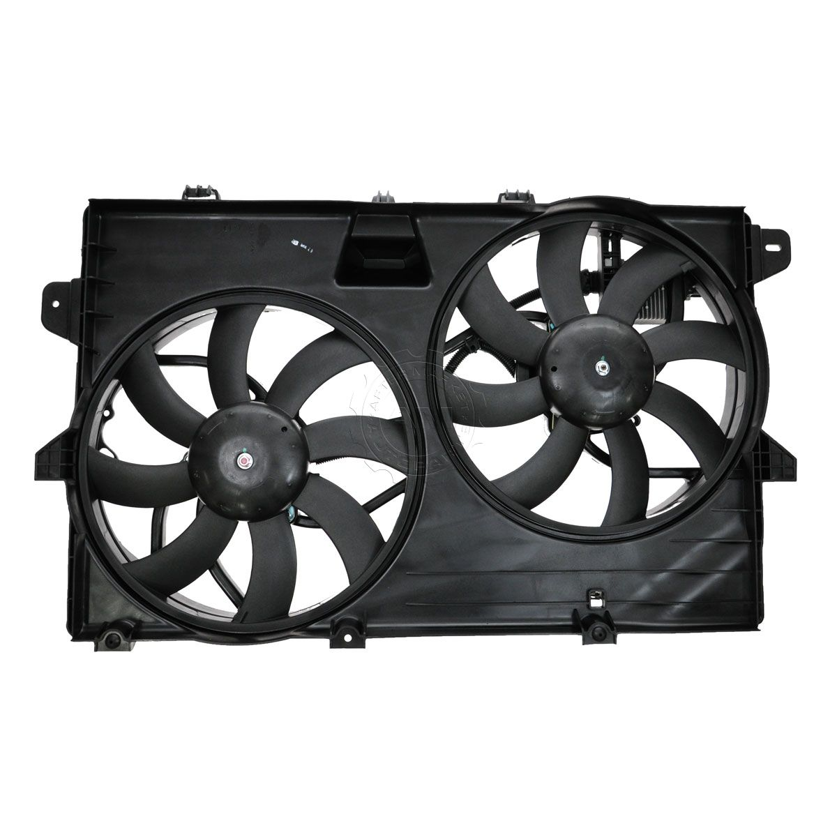 hight resolution of dual radiator cooling fan assembly 7t4z8c607a for ford edge lincoln mkx