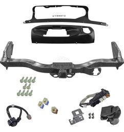 oem trailer tow hitch receiver w harness and finisher kit for nissan pathfinder [ 1200 x 1200 Pixel ]