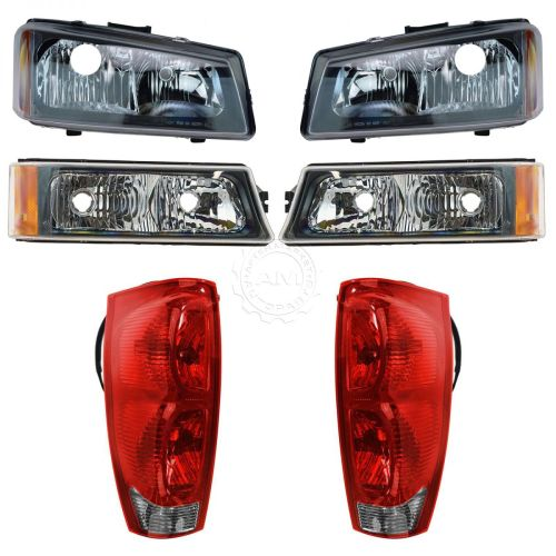 small resolution of headlight tail light parking lamp front rear kit for 02 06 chevy avalanche new