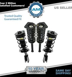 front rear struts springs left right set of 4 for 00 05 cavalier [ 1600 x 1600 Pixel ]