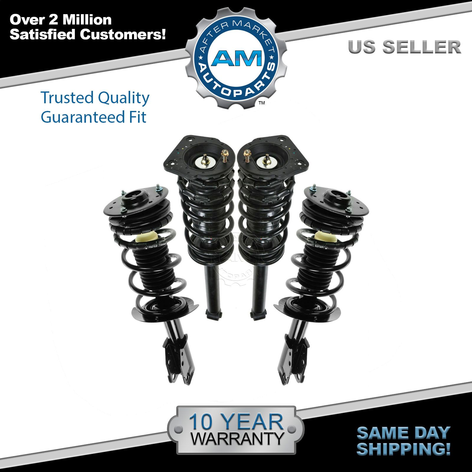 hight resolution of front rear struts springs left right set of 4 for 00 05 cavalier