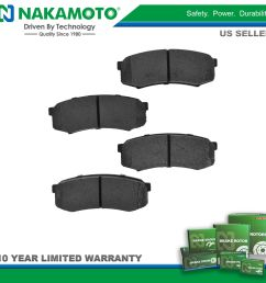 nakamoto brake pads premium posi metallic rear kit for toyota sequoia 4runner [ 1600 x 1600 Pixel ]