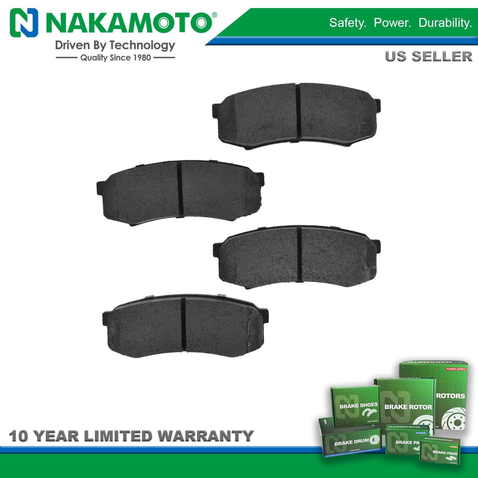 hight resolution of nakamoto brake pads premium posi metallic rear kit for toyota sequoia 4runner