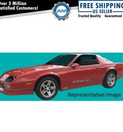 decal stripe silver black pre molded 9 piece kit for 85 87 chevy camaro iroc [ 1200 x 1200 Pixel ]