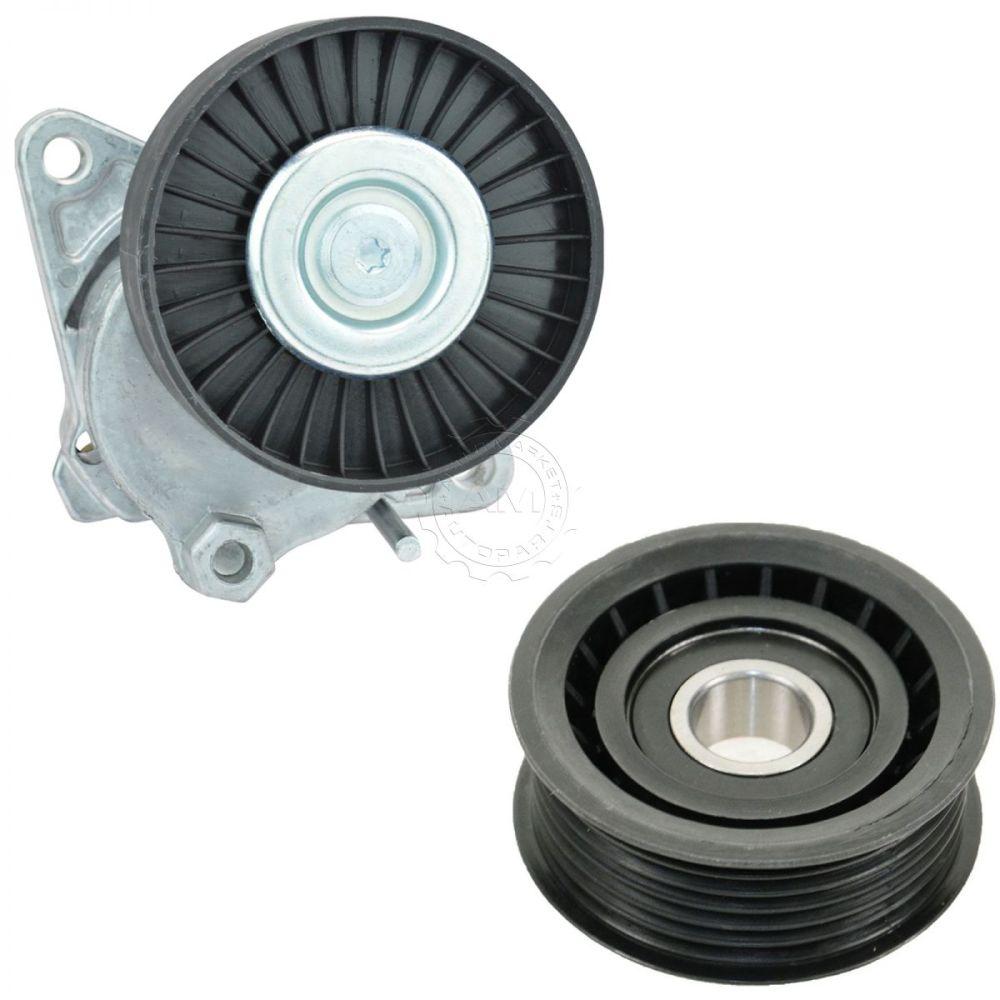 medium resolution of serpentine belt tensioner idler pulley kit for chrysler mercedes benz