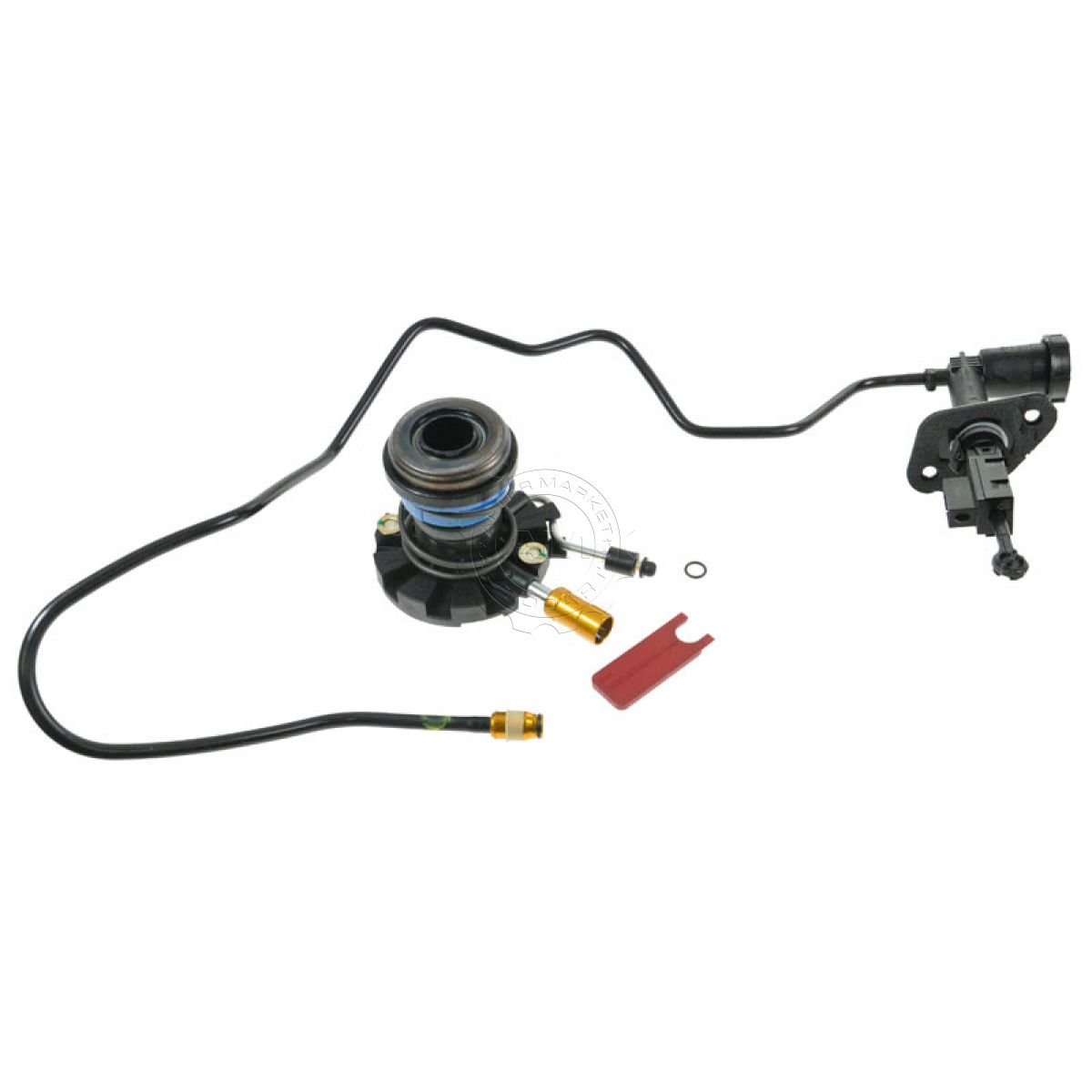 Hydraulic Lines Clutch Slave Amp Master Cylinder Kit For