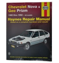 haynes repair manual for geo prizm chevy nova [ 1200 x 1200 Pixel ]