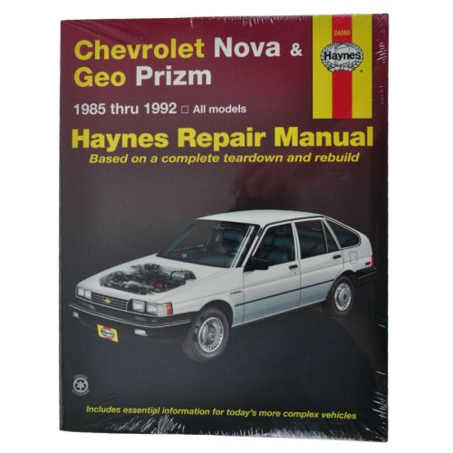 small resolution of haynes repair manual for geo prizm chevy nova