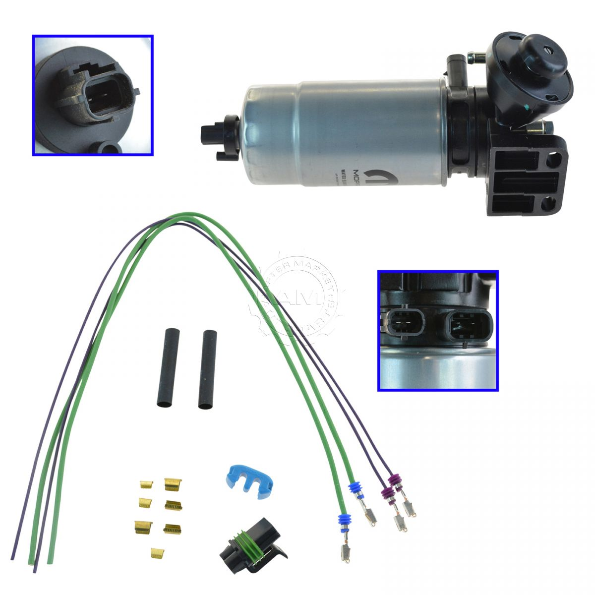 hight resolution of oem mopar oil filter water separator with wire harness kit for jeep liberty 2 8l