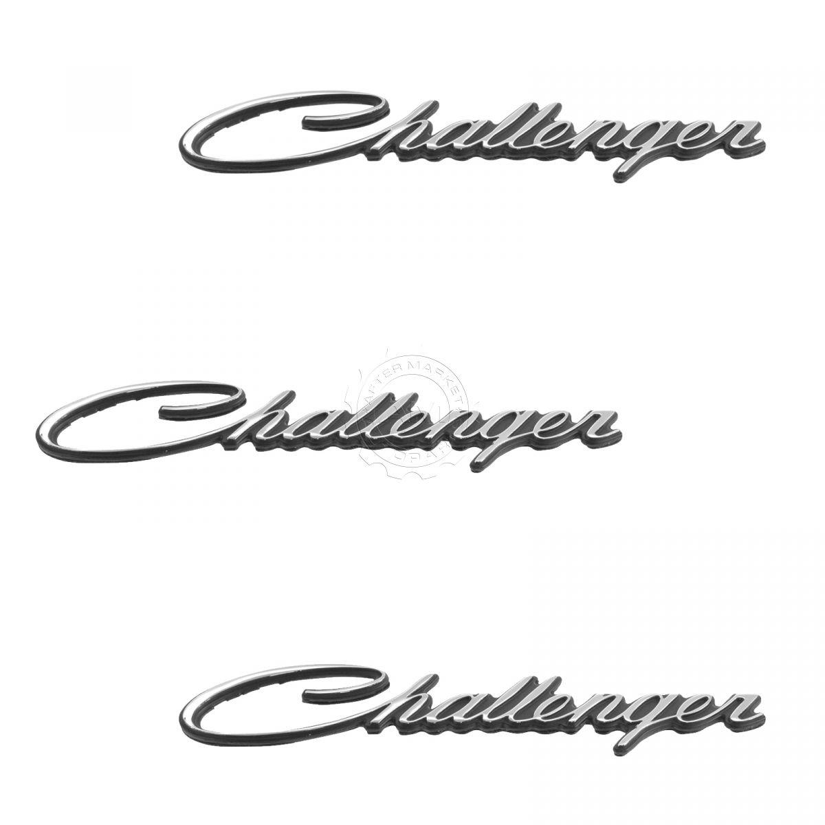 OEM Challenger Nameplate Emblem Chrome Kit Set of 3 for 70