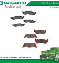 nakamoto front rear posi ceramic brake pad kit for ford explorer sport trac [ 1600 x 1600 Pixel ]