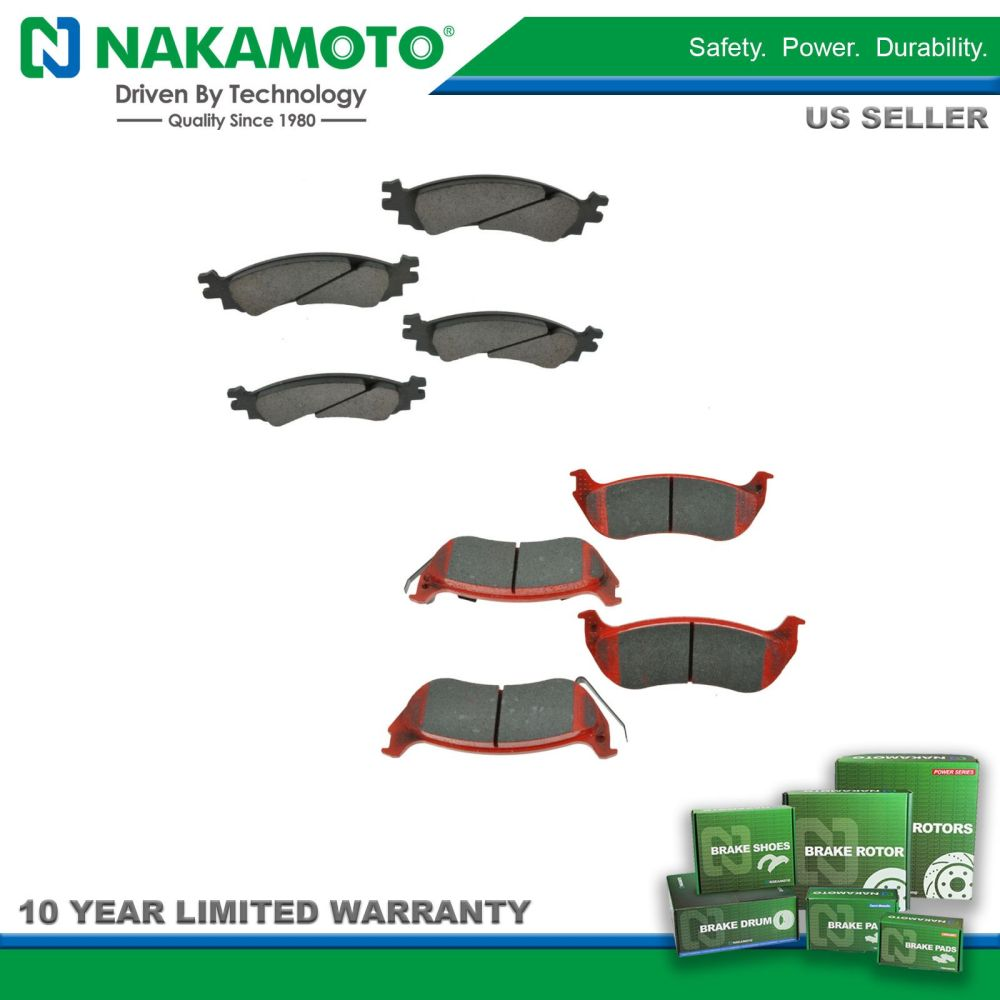 medium resolution of nakamoto front rear posi ceramic brake pad kit for ford explorer sport trac
