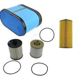 motorcraft air oil fuel filter set of 3 for 08 10 6 4l powerstroke turbo [ 1200 x 1200 Pixel ]