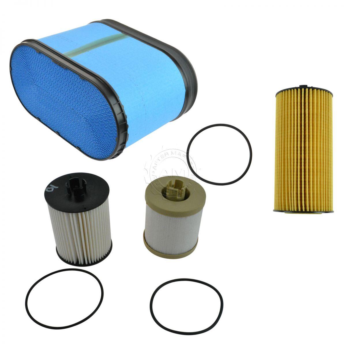 hight resolution of motorcraft air oil fuel filter set of 3 for 08 10 6 4l powerstroke turbo
