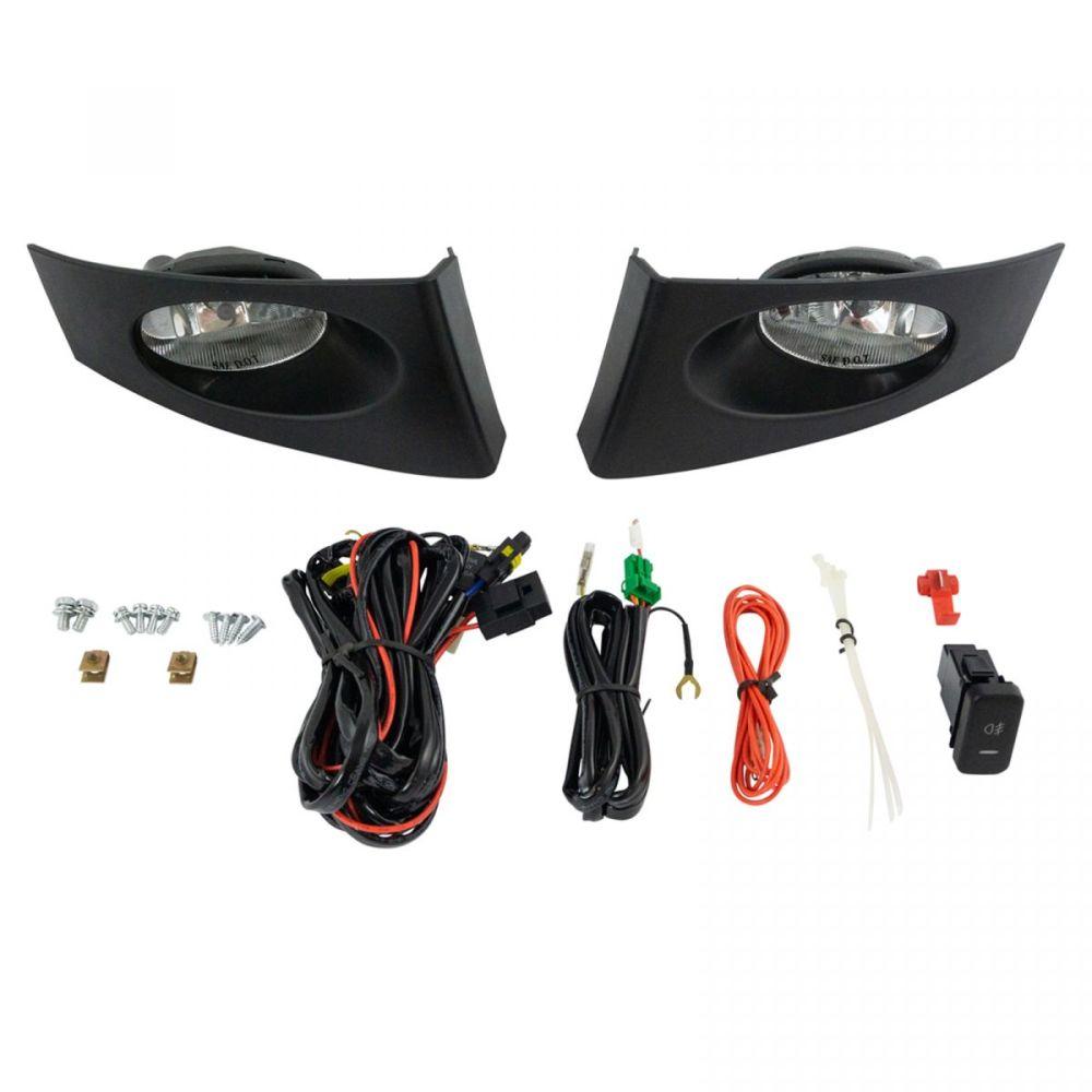 medium resolution of add on upgrade clear lens fog light bulb switch wiring kit set for honda fit new
