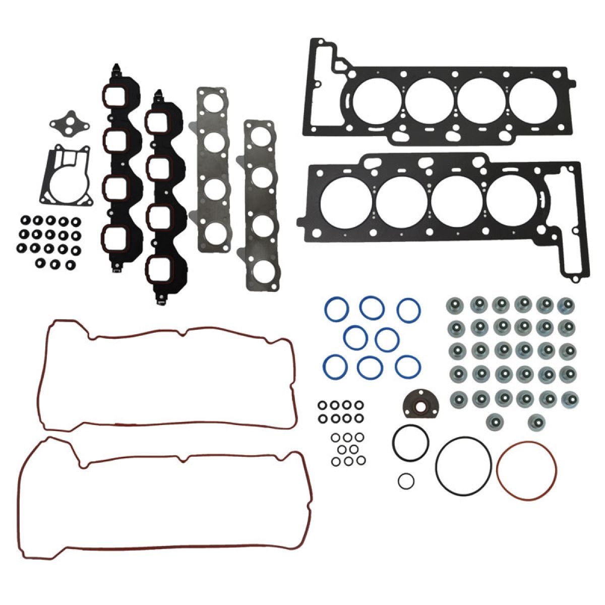 Engine Head Intake Exhaust Manifold Valve Cover Gasket Kit Set For Cadillac 4 6l
