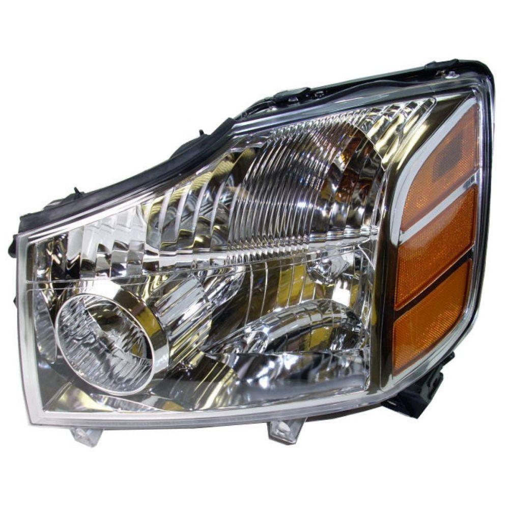 medium resolution of headlight headlamp driver side left lh for 04 07 armada titan pickup truck