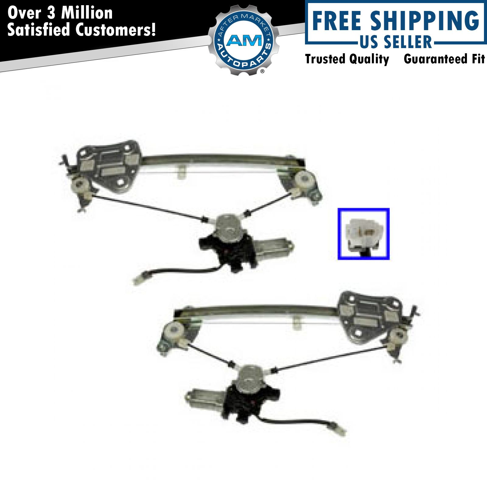 Dorman Power Window Regulator Amp Motor Pair For Eclipse Sebring Stratus Coupe