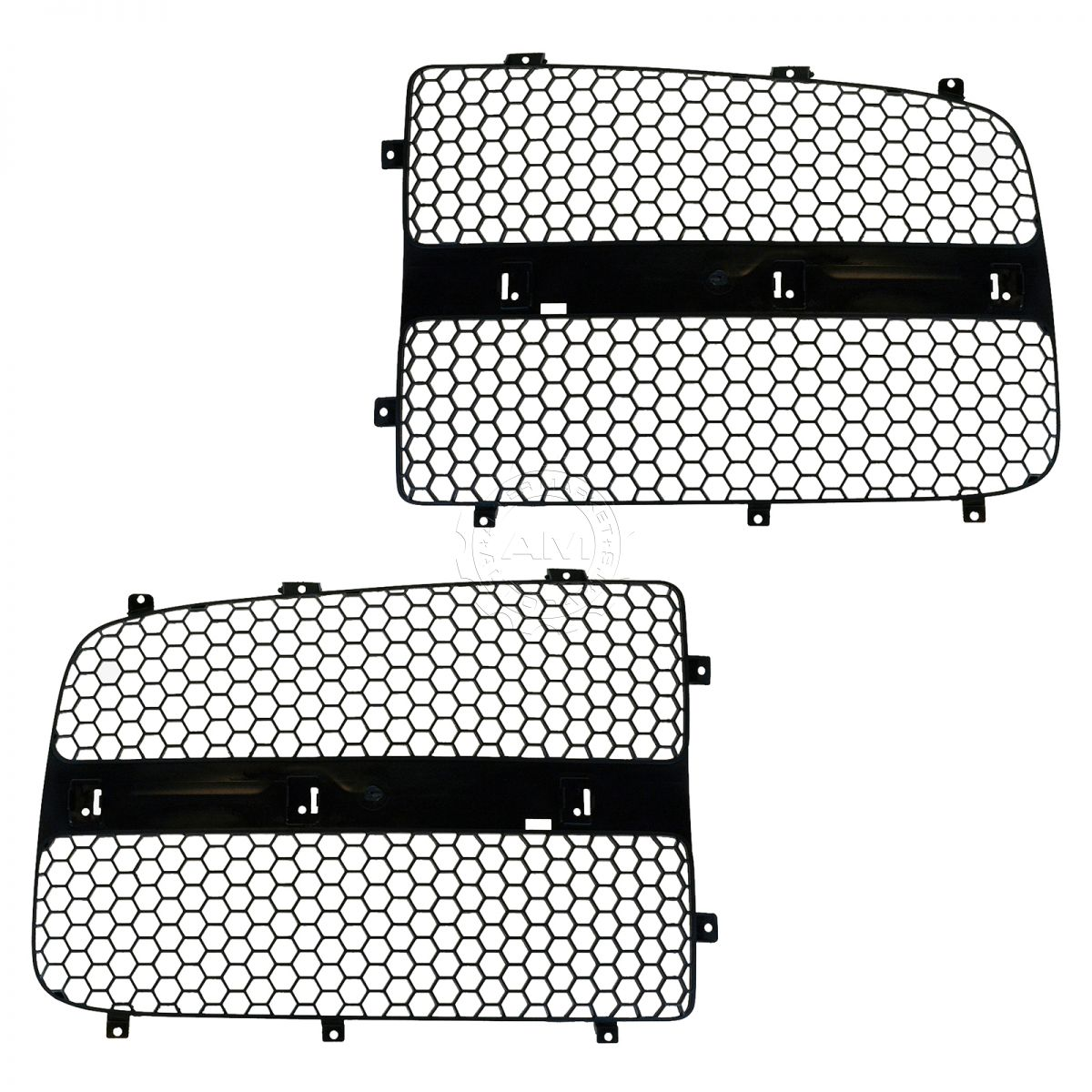 Grille Insert Black Front Left & Right Pair Set for Dodge