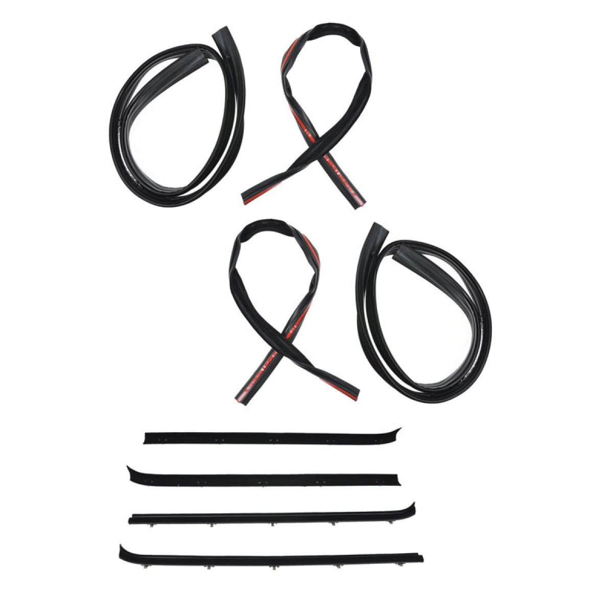 Window Sweep & Run Channel Weatherstrip Set of 8 Kit for