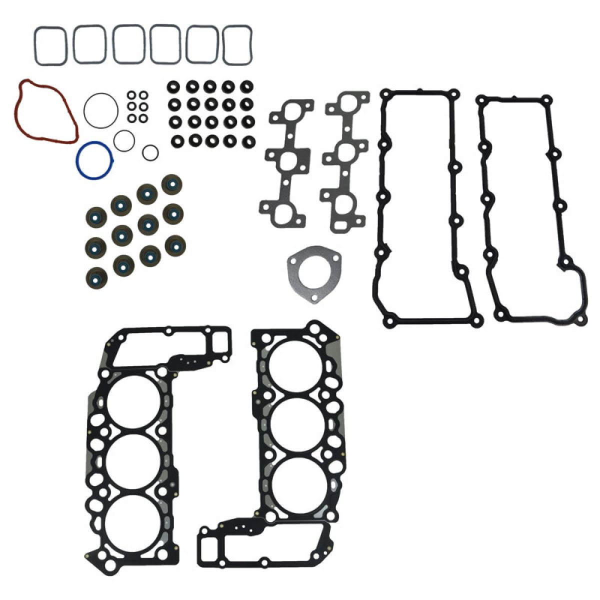 Engine Head Intake Exhaust Manifold Gasket Kit Set For