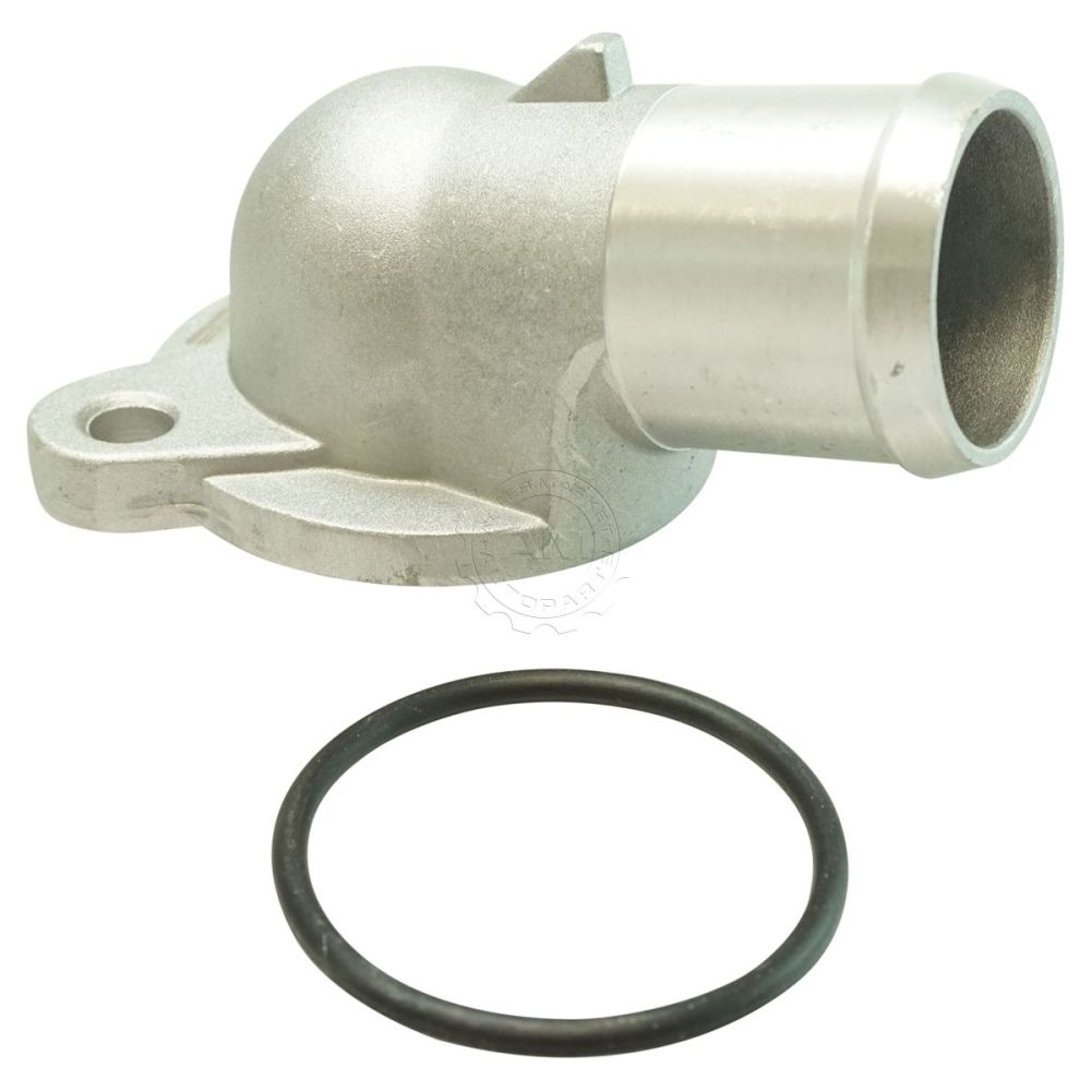 medium resolution of dorman thermostat housing water neck cover for ford lincoln mercury 4 6l