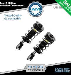 front shock struts springs left right pair set for 00 05 cavalier sunfire [ 1600 x 1600 Pixel ]