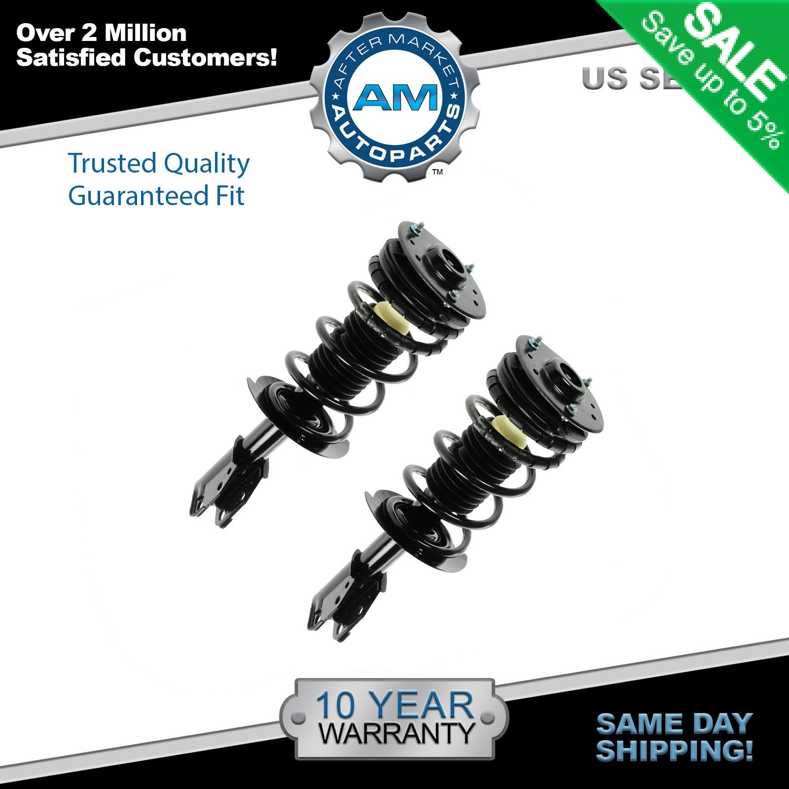 hight resolution of front shock struts springs left right pair set for 00 05 cavalier sunfire