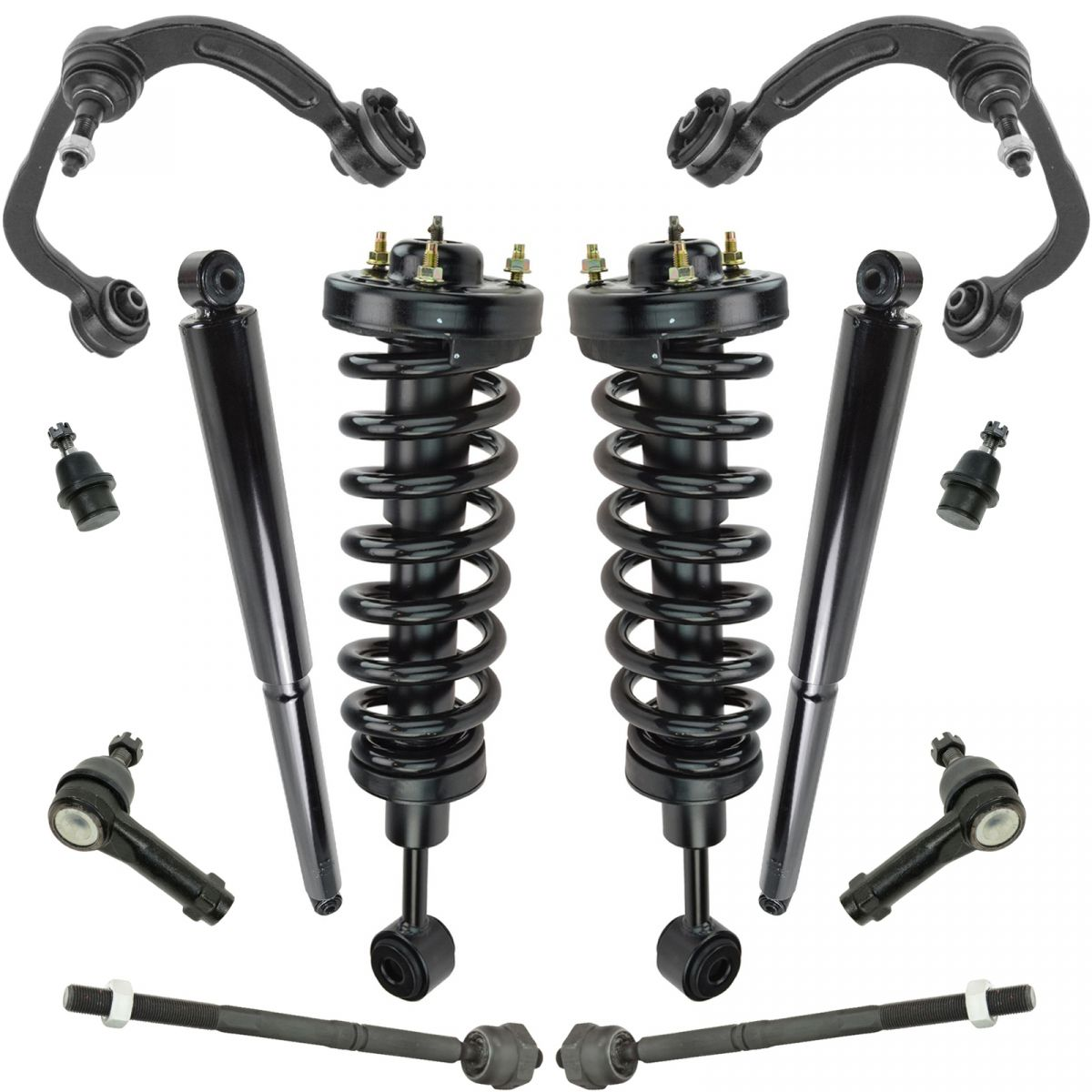 Shock Strut Spring Assembly Control Arm Ball Joint Tie Rod