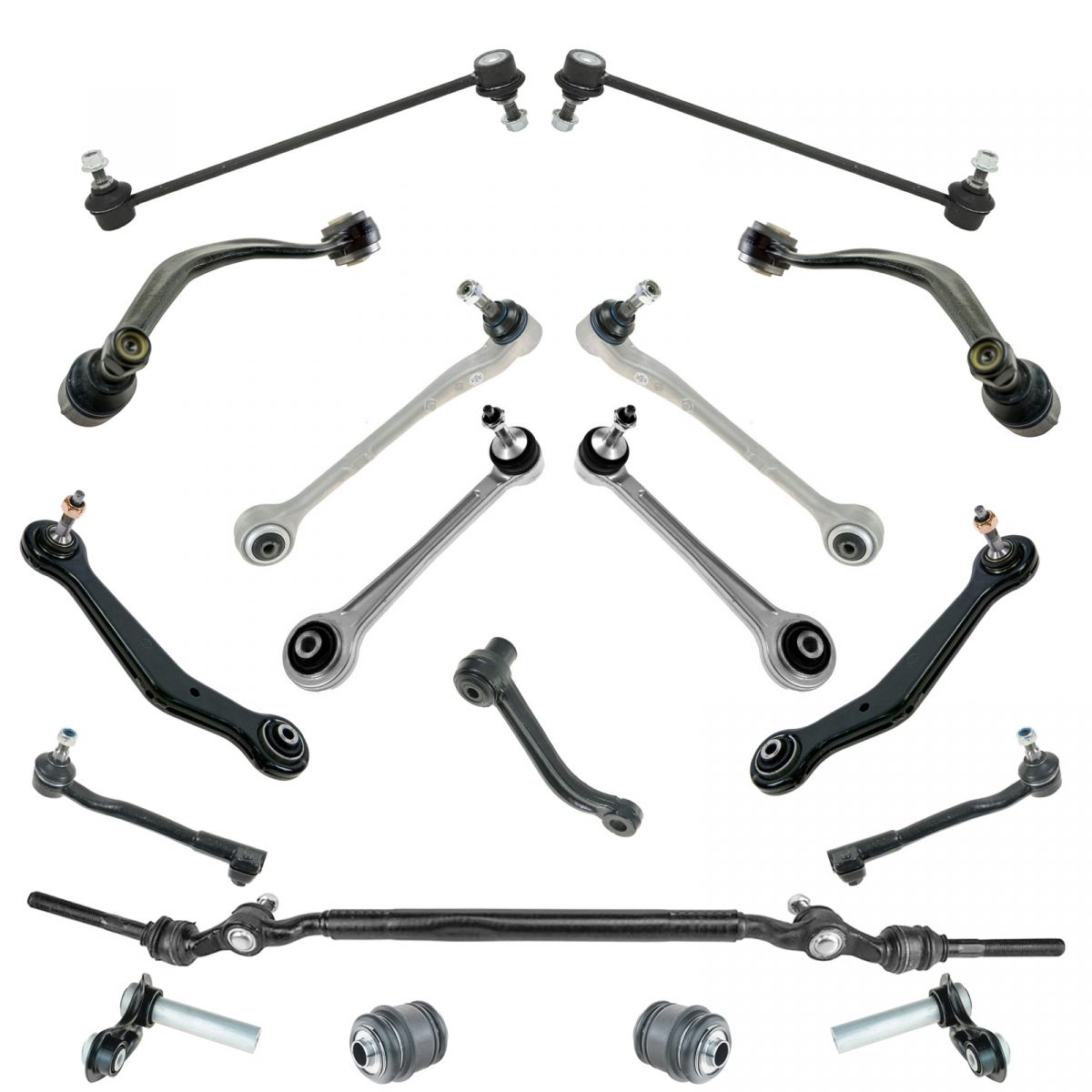 Control Arms Ball Joints Tie Rod Sway Bar Suspension Kit