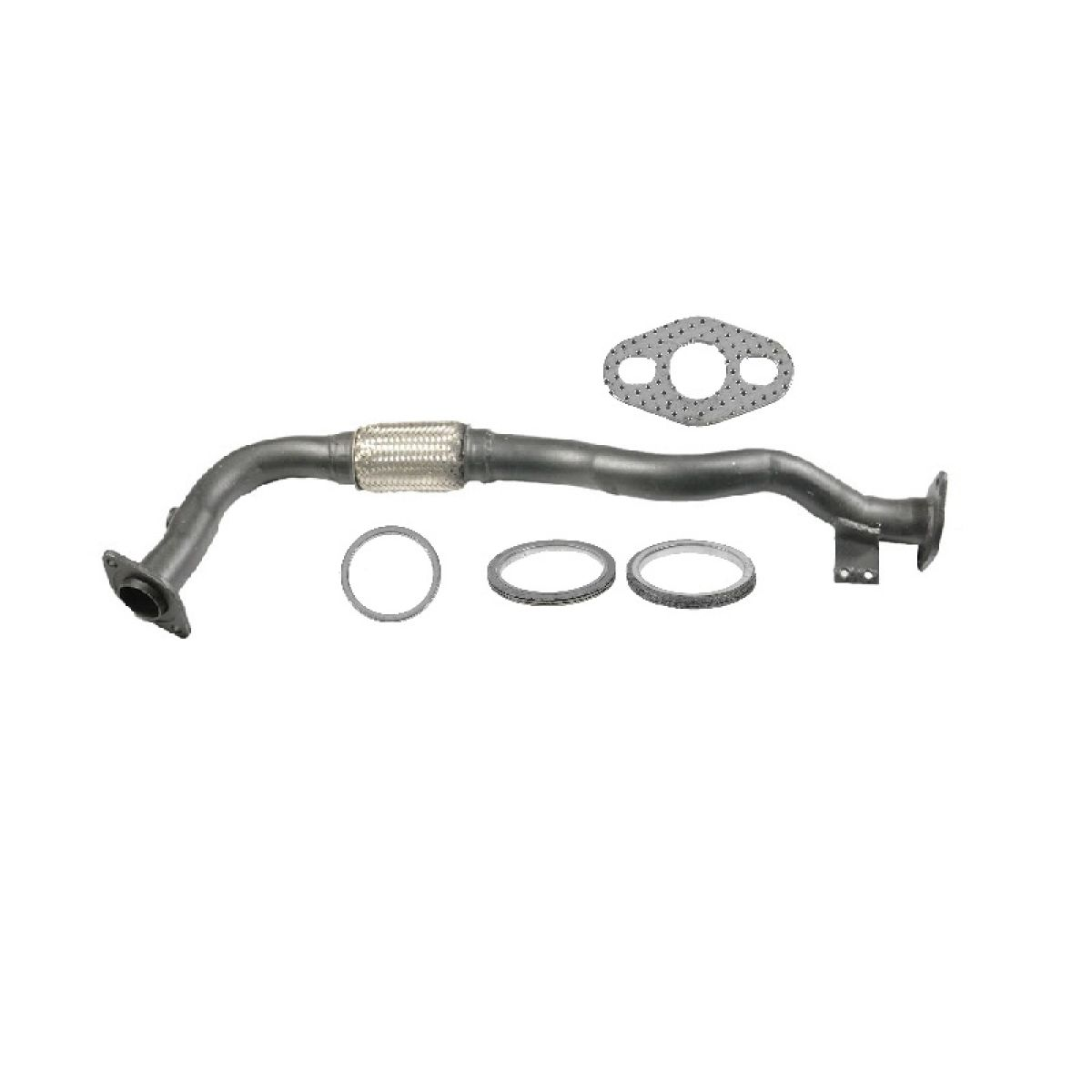 Braided Exhaust Flex Pipe With Gaskets For 95 97 Prizm