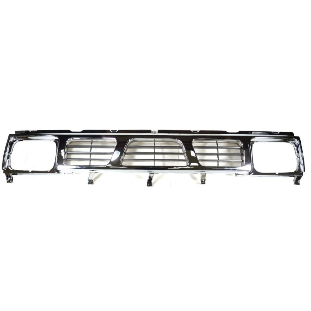 medium resolution of grille grill black chrome front end for 93 97 nissan d21 hardbody pickup truck