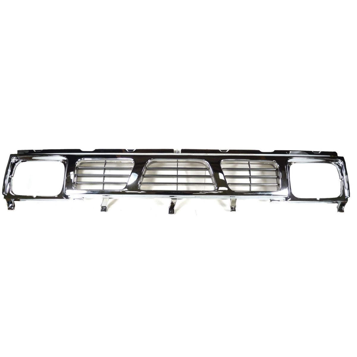 hight resolution of grille grill black chrome front end for 93 97 nissan d21 hardbody pickup truck