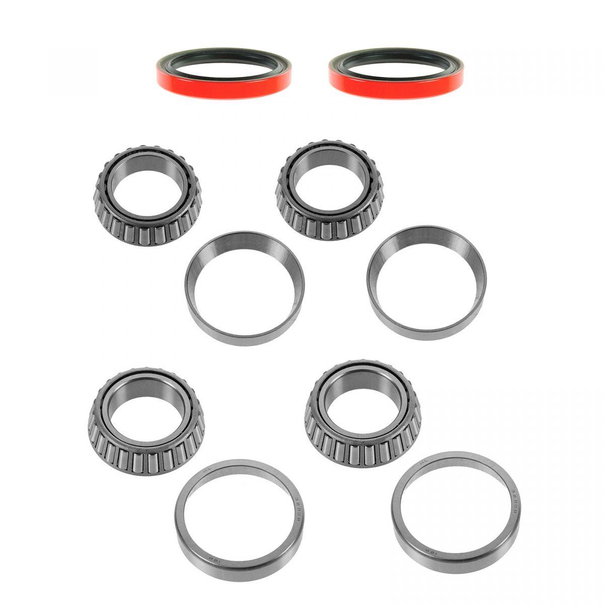 Front Wheel Bearing Race Seal Kit Set Inner & Outer for