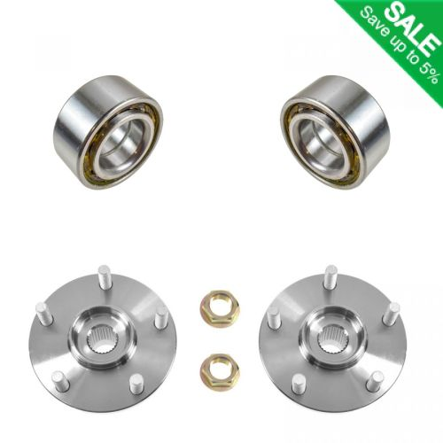 small resolution of front wheel hubs bearings left right pair set for 96 00 toyota rav4