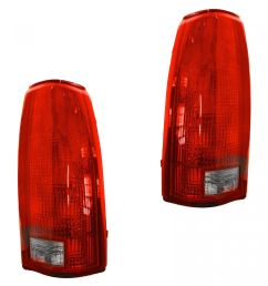 taillights brake lights left right pair set of 2 for chevy gmc c k [ 1200 x 1200 Pixel ]