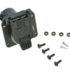 dorman trailer hitch harness wiring plug connector receptacle for ford lincoln [ 1200 x 1200 Pixel ]