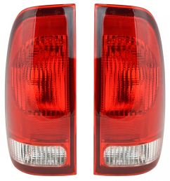 taillights taillamps rear brake lights pair set new for ford f series truck [ 1200 x 1200 Pixel ]
